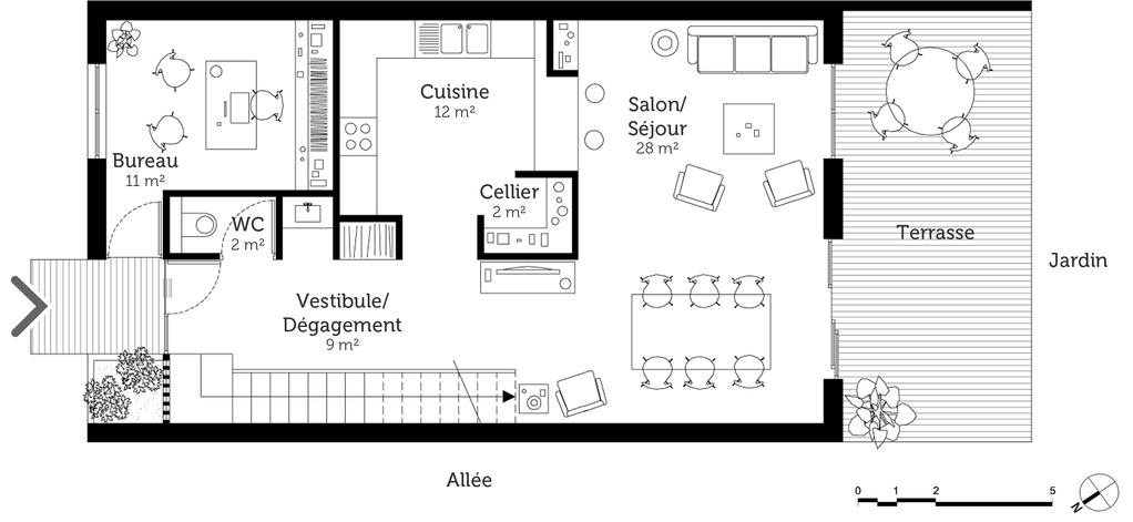 Plan maison tage 130 m ooreka - Idee plan maison en longueur ...