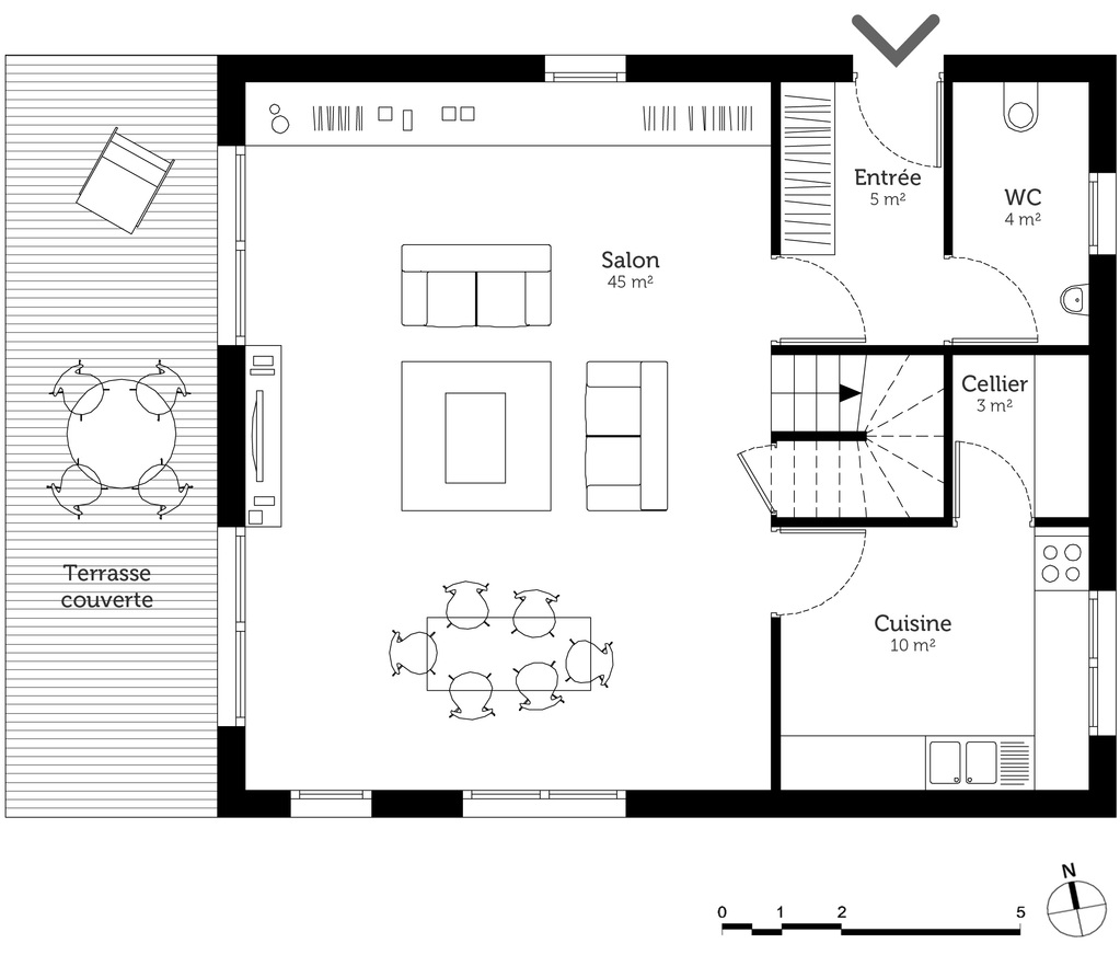 Plan maison tage 150 m ooreka for Plans de maison consultables