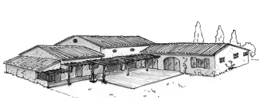 plan maison provencale