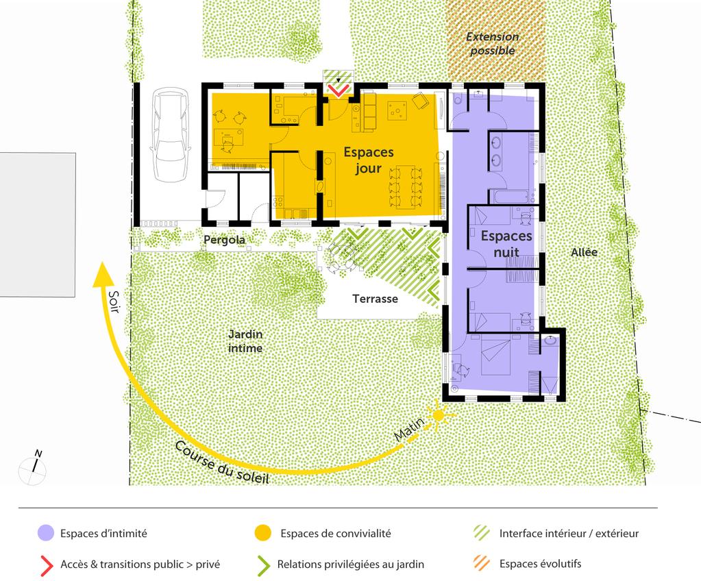 Plan maison proven ale de plain pied ooreka - Plan de maison de 65m2 ...