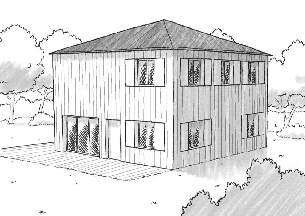 Plan maison tage en bois ooreka for Etage en bois