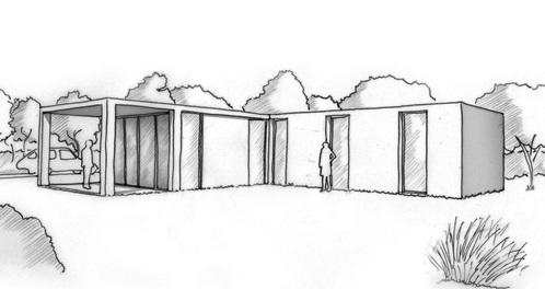 Plan maison moderne de plain pied ooreka for Plan pavillon moderne