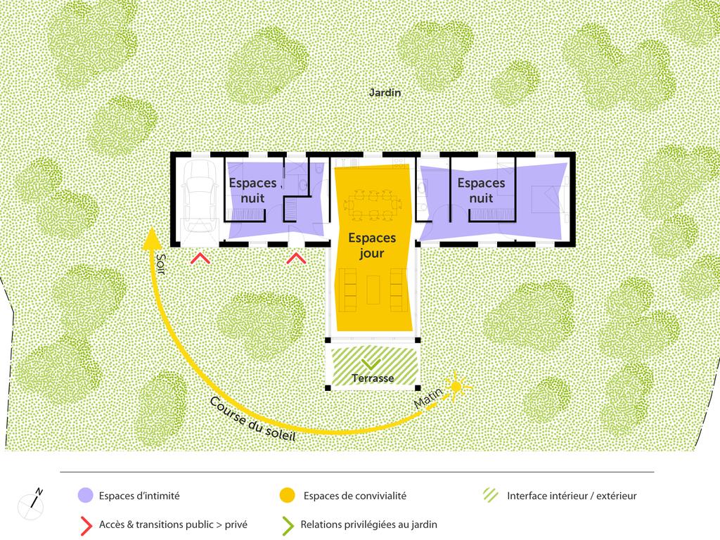 Plan maison moderne en t ooreka - Plan de maison de 65m2 ...