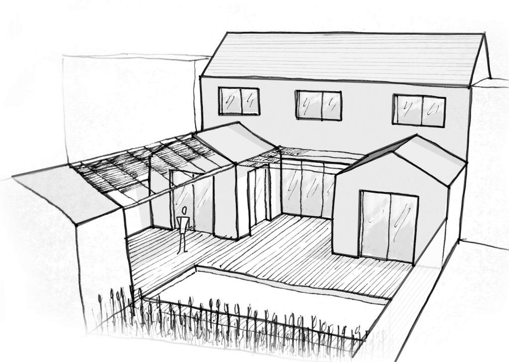 plan maison en u avec 3 chambres ooreka. Black Bedroom Furniture Sets. Home Design Ideas
