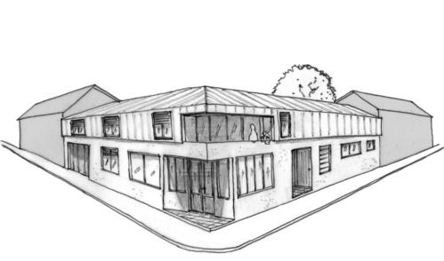 Plan maison duplex 150 m ooreka - Local commercial avec logement ...