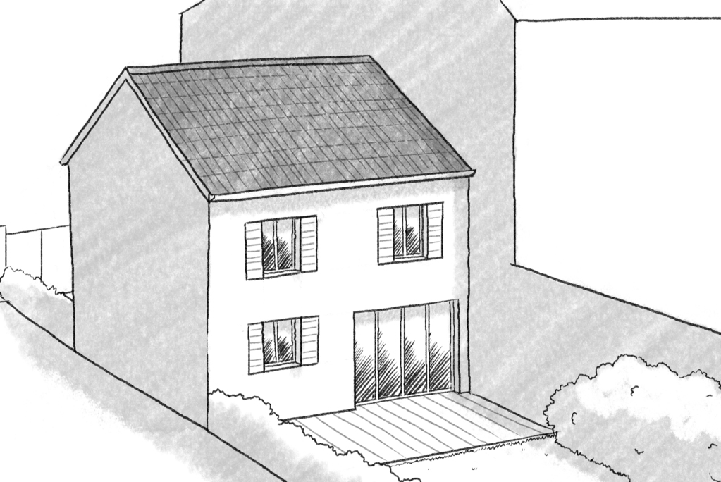 Plan maison de ville avec 2 chambres ooreka for Conception plan maison