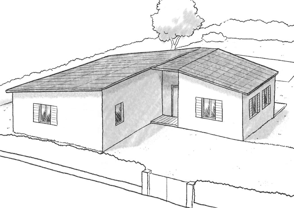 Plan maison plain pied en l ooreka - Maison cubique plain pied ...