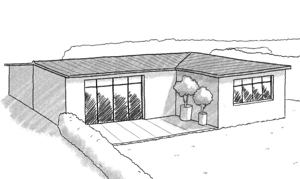 Plan maison en l avec abri de voiture ooreka for Conception plan 3d