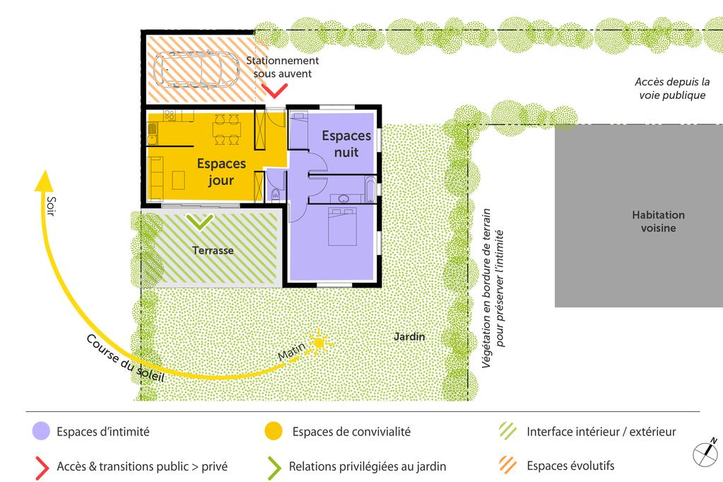 Plan Maison Plain Pied Avec 3 Chambres Et Garage Ooreka