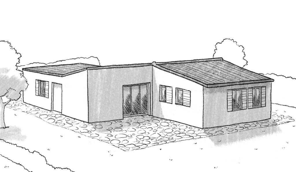 Plan maison plain pied avec 3 chambres et garage ooreka - Construction de maison 3d ...
