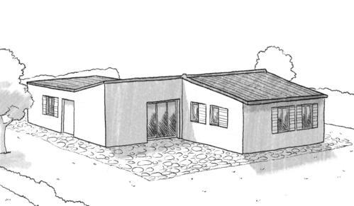 Plan maison en bois de plain pied ooreka for Plan maison plain pied avec garage double