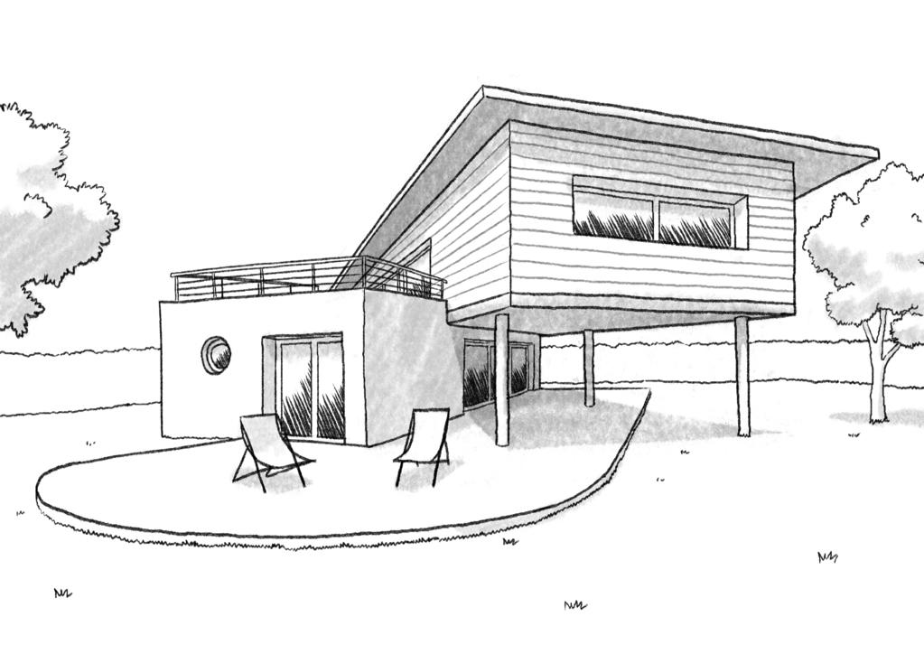 Toiture Décalée Dessin Moderne : Plan maison contemporaine à étage ‒ ooreka
