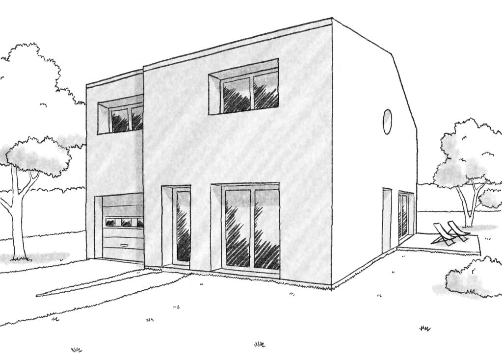 Esquisse 3D Plan de maison de 110 m² avec 4 chambres