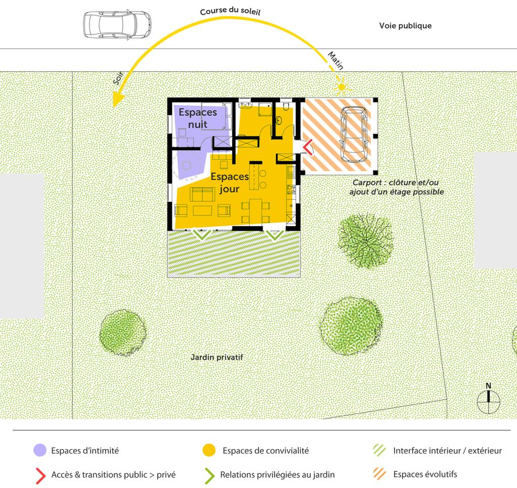 Plan maison cubique à étage - Ooreka