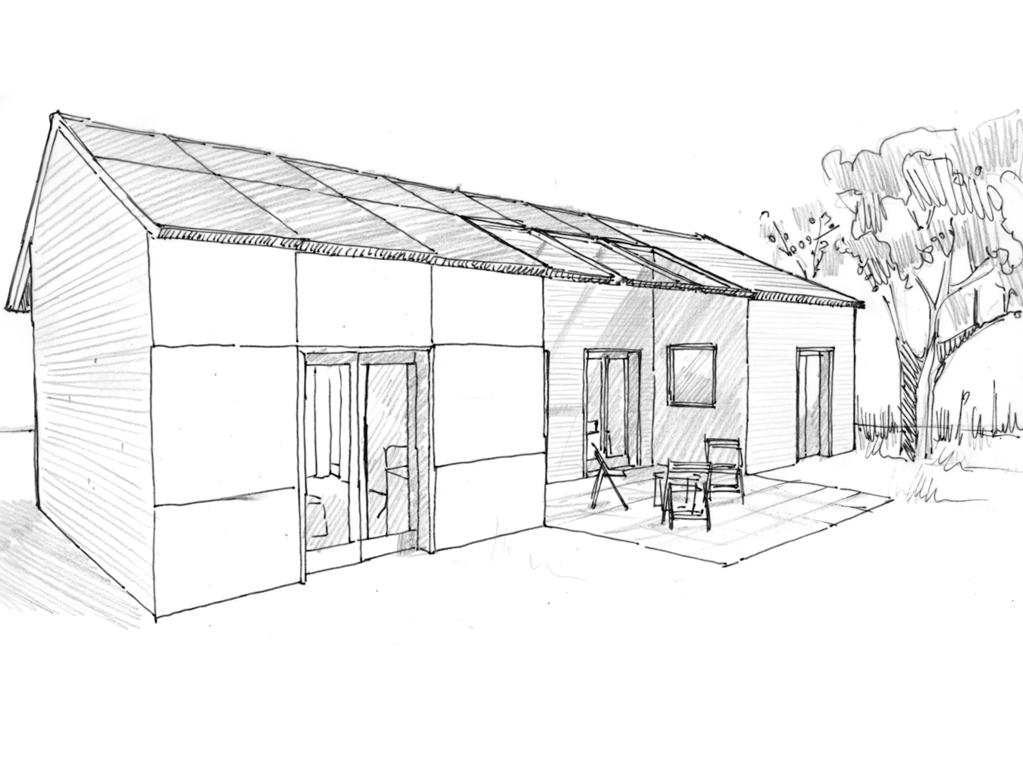plan maison de plain pied 70 m ooreka. Black Bedroom Furniture Sets. Home Design Ideas