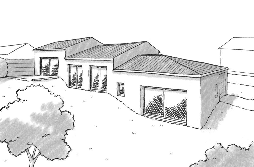 plan de maison sur terrain en pente