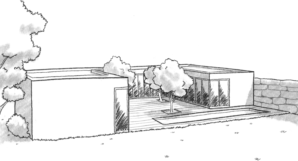 Plan Maison En U Avec  Chambres  Ooreka