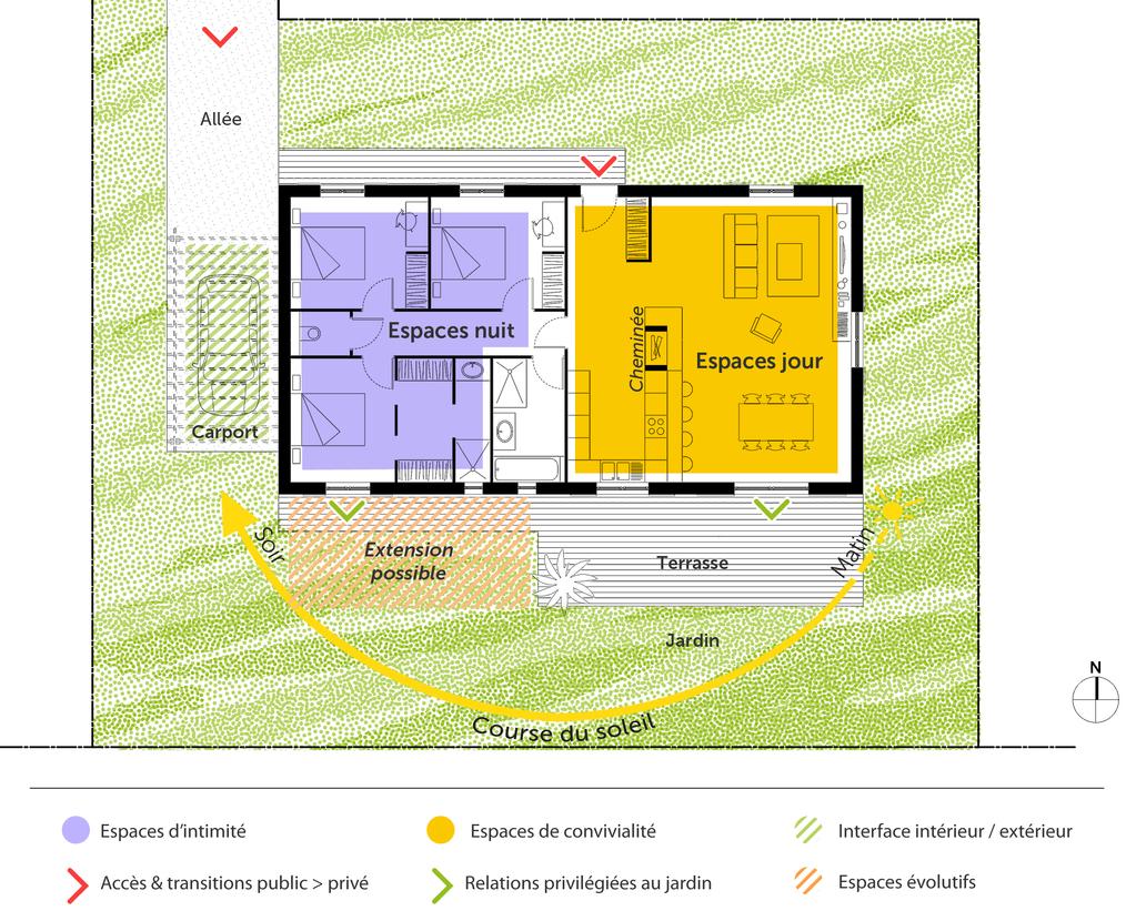 Plan De Maison 3 Chambres Modele Habitat Concept 102 Gi 1