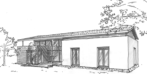 plan maison en v avec 4 chambres ooreka. Black Bedroom Furniture Sets. Home Design Ideas
