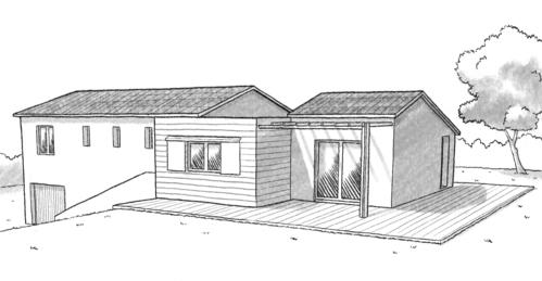 Plan maison avec piscine int rieure ooreka for Plan maison avec combles