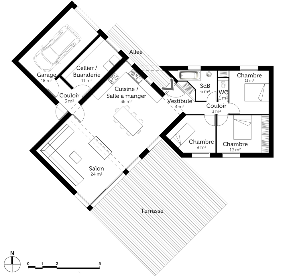 Plan maison en y ooreka for Plans de maison services d architecture