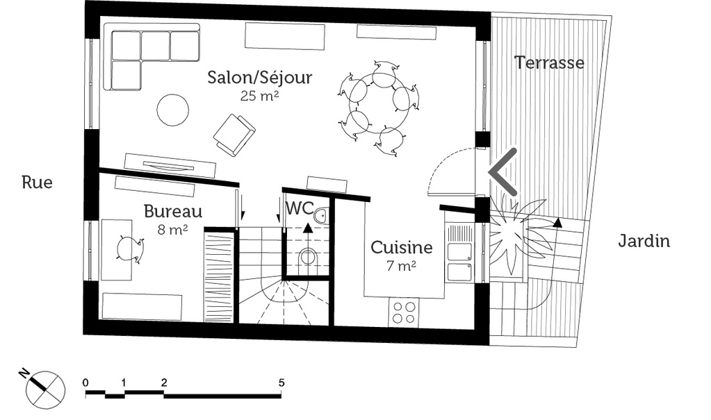 Plan maison contemporaine cubique ooreka for Plan de maison cubique