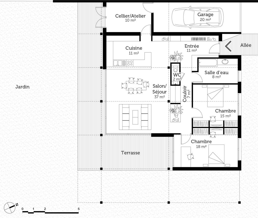 plan maison loft ooreka. Black Bedroom Furniture Sets. Home Design Ideas