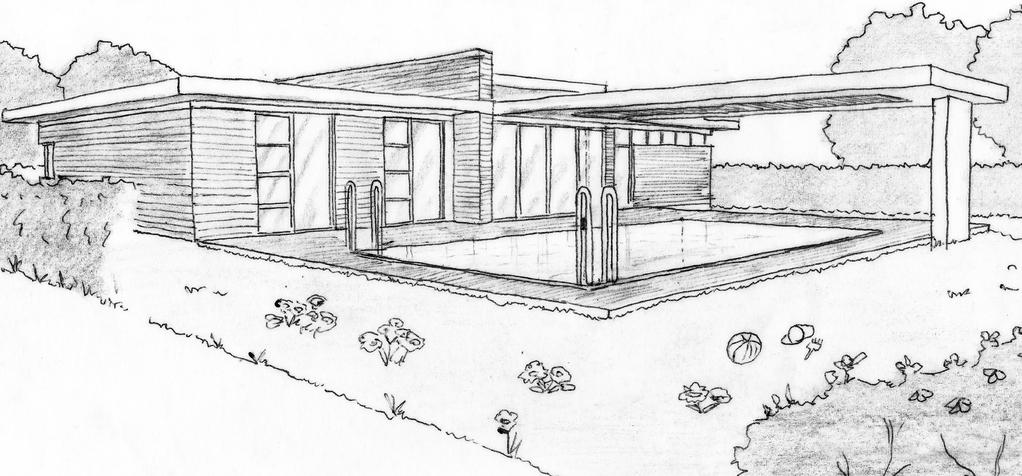 Esquisse 3D Plan De Maison Contemporaine De Plain Pied Avec 3 Chambres