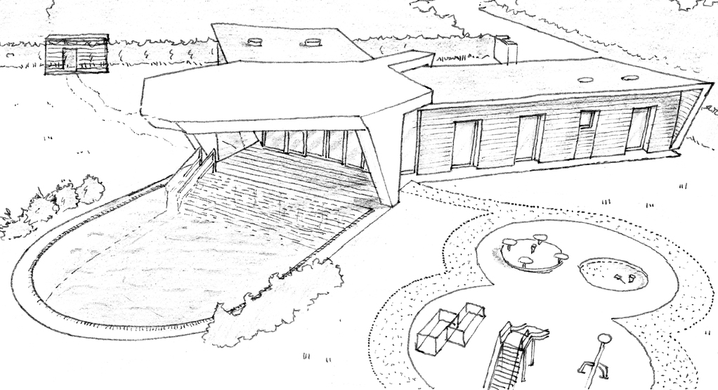 Plan maison contemporaine avec piscine ooreka for Architectes de construction de maisons