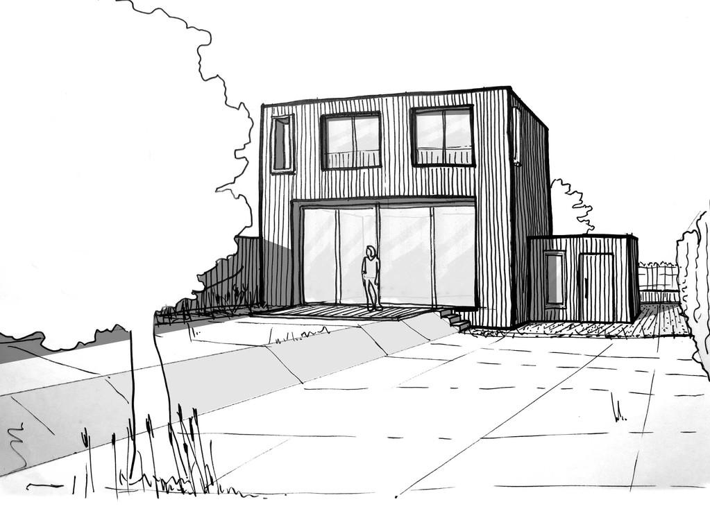 Plan Maison Cubique En Bois  Ooreka