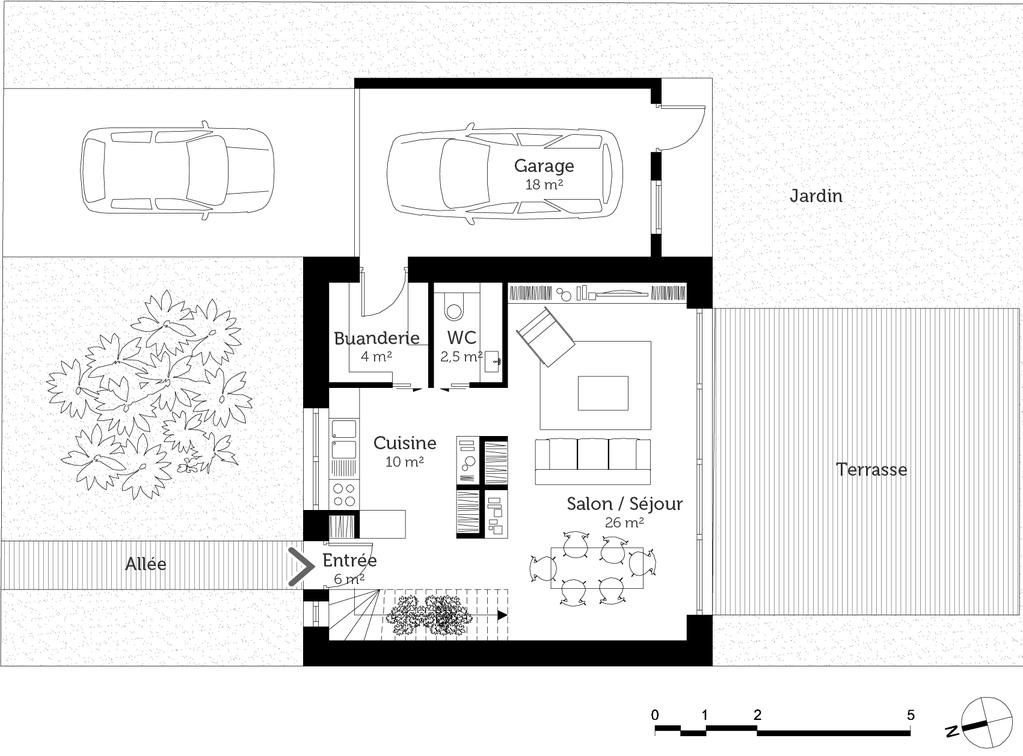 plan de maison cube