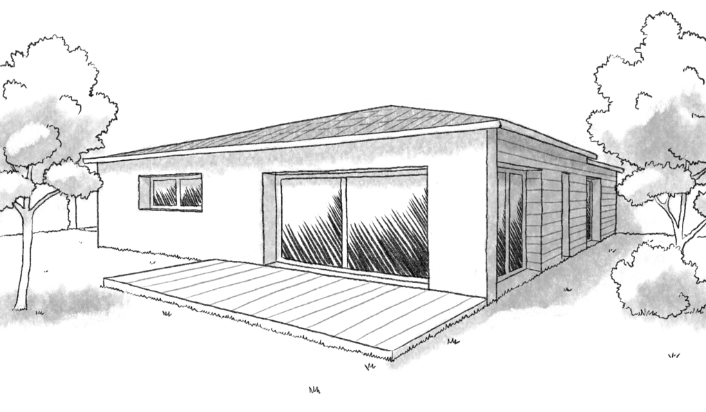 Plan maison en l avec 3 chambres ooreka for Conception 3d chambre