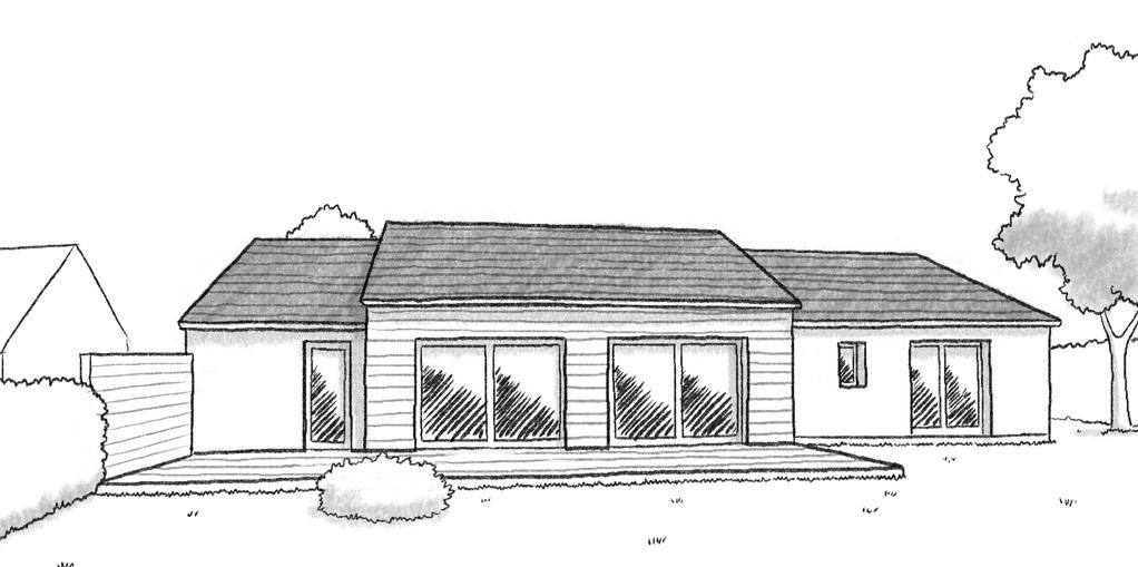 Plan maison plain pied rectangulaire ooreka for Conception de maison 3d