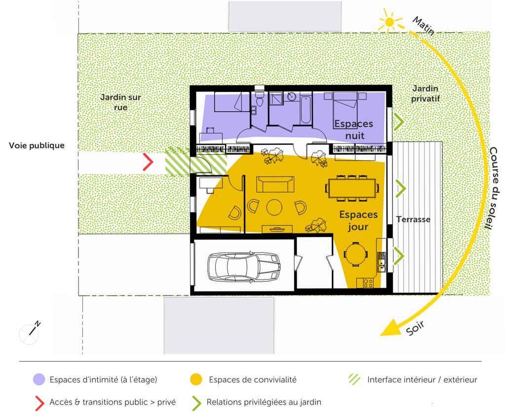 Plan maison cubique de plain pied ooreka for Plan maison passive plain pied