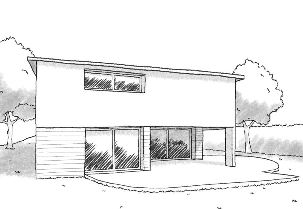Esquisse 3D Plan de maison à étage de 170 m²