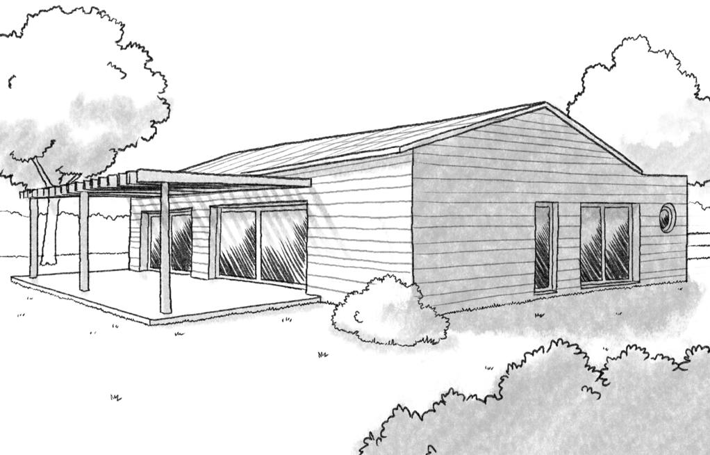 Plan maison en u en bois ooreka for Maison bioclimatique plan