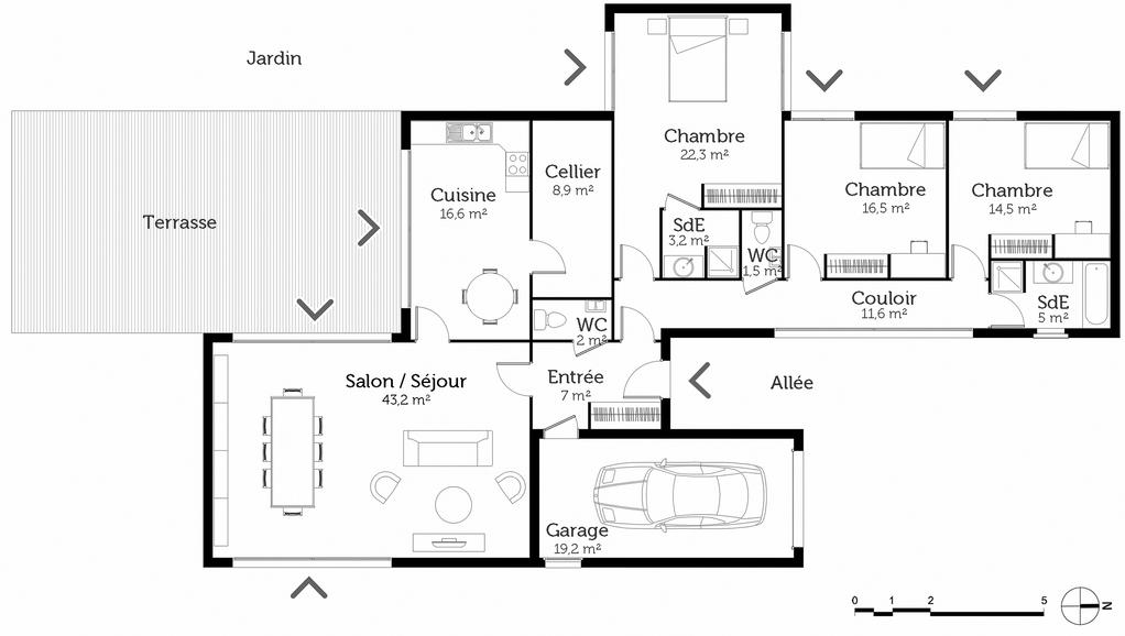 Plan Maison Individuelle Contemporaine Ooreka