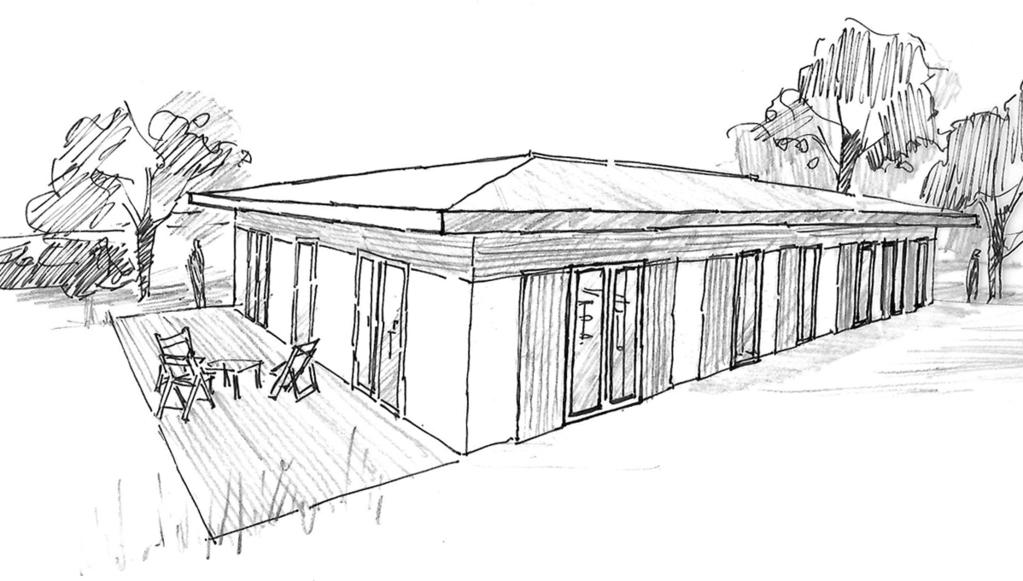 Plan maison de plain pied 160 m avec 4 chambres ooreka for Maison rectangulaire moderne