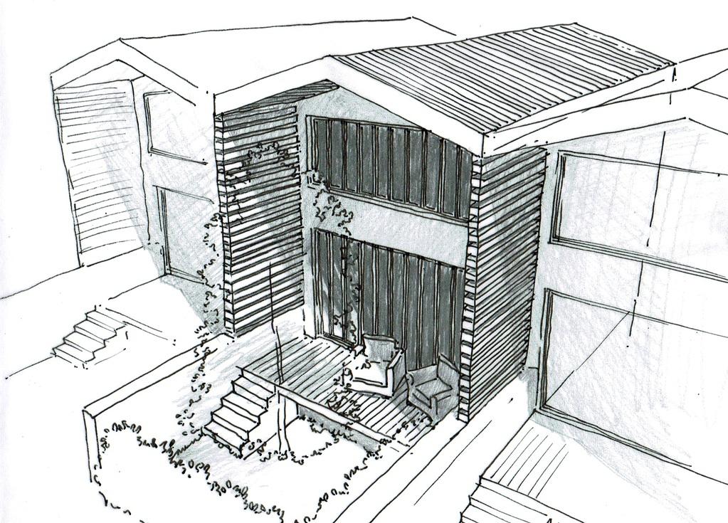 Esquisse 3D Plan De Petite Maison à étage