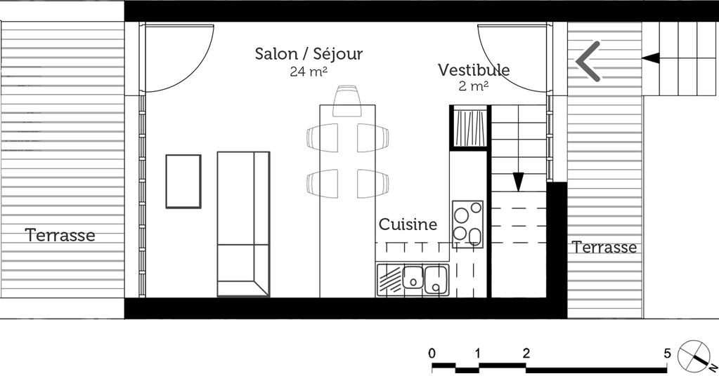 plan petite maison tage ooreka. Black Bedroom Furniture Sets. Home Design Ideas