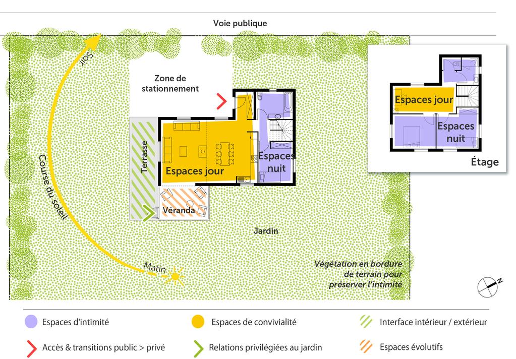 Plan maison 110 m avec v randa ooreka - Plan de masse et plan de situation ...