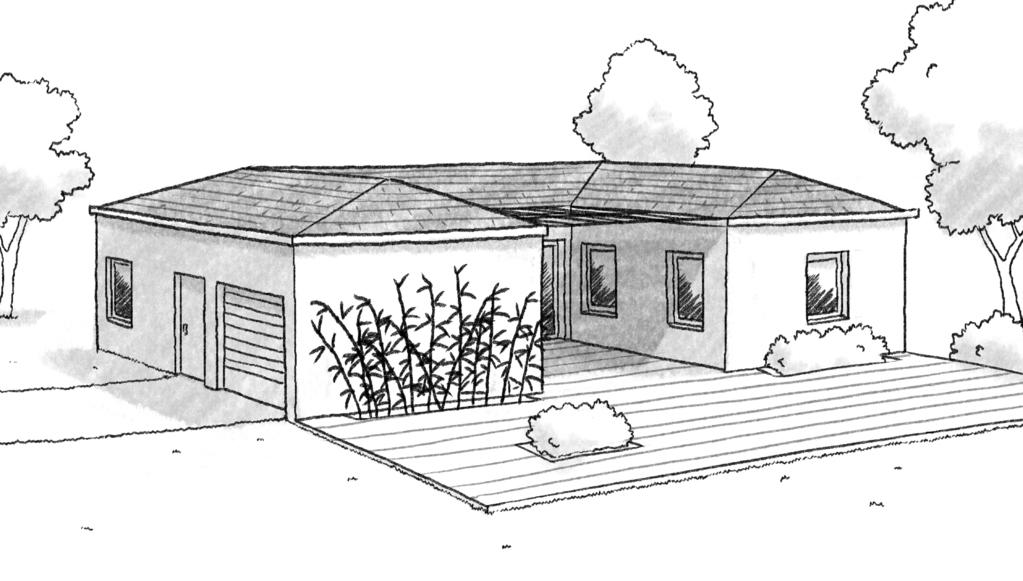 plan maison en u avec 2 chambres ooreka. Black Bedroom Furniture Sets. Home Design Ideas