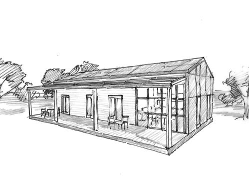 plan maison rectangulaire avec patio ooreka. Black Bedroom Furniture Sets. Home Design Ideas