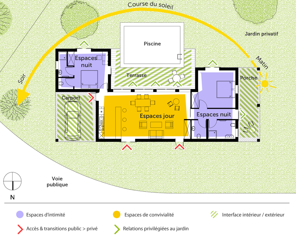 Plan Maison En U Plain Pied Plan Maison Plain Pied 2   Plan Maison En U ...