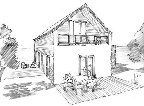 plan maison tage 100 m ooreka. Black Bedroom Furniture Sets. Home Design Ideas