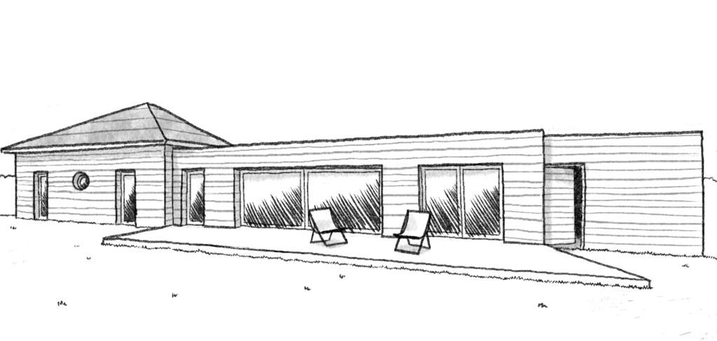 Esquisse 3D Plan de maison en bois de 120 m²