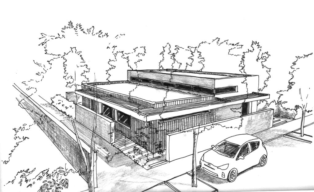 Toiture Décalée Dessin Moderne : Plan maison à toit plat m² ooreka