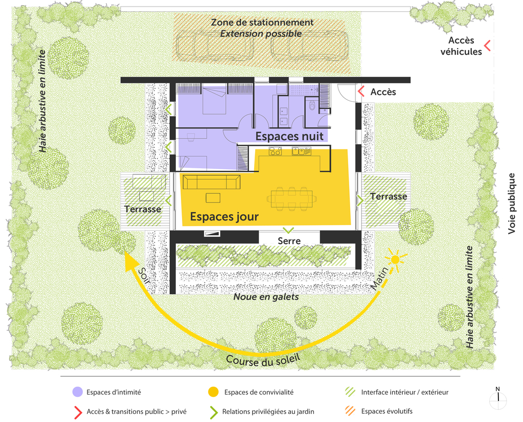 plan de maison bioclimatique