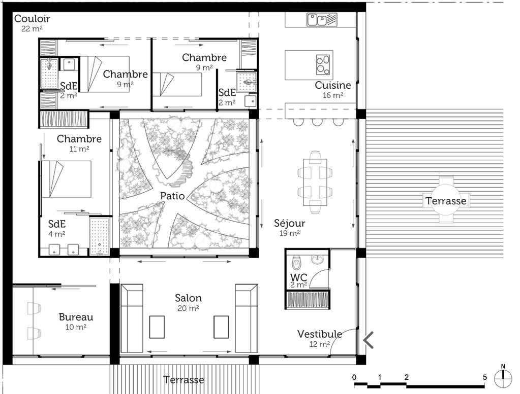 Plan Maison Cubique Avec Patio Ooreka
