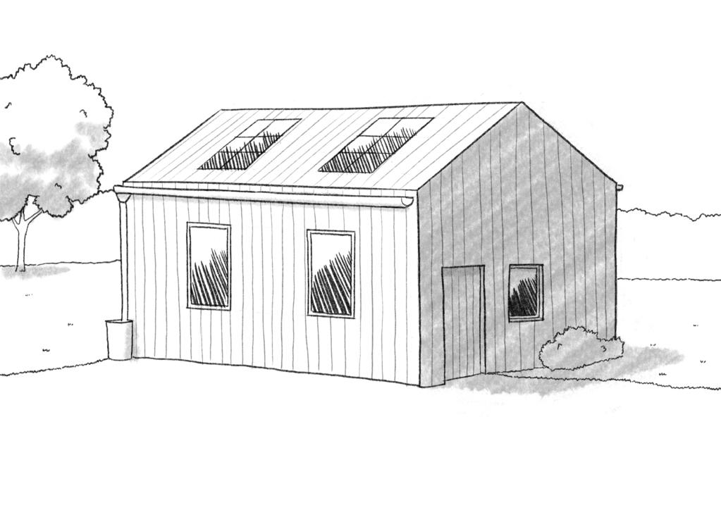 Esquisse 3D Plan de maison écologique de 70 m²